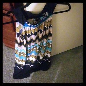Multicolored sleeveless maxi dress